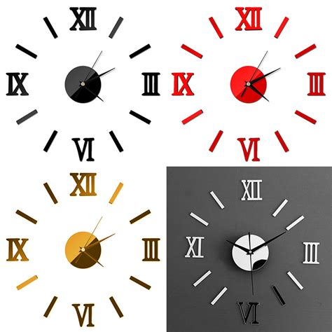 home decor for sale luxury large wall clock 3d sticker big home decor luxury large wall clock living room diy 3d home