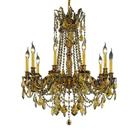 Gold Chandeliers Lighting 1 Light Gold Chandelier With Clear 1205d12fg Rc The