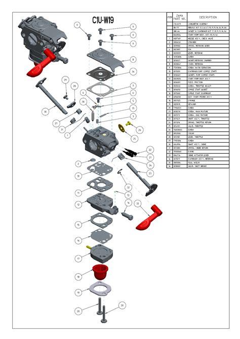 zama c1q carb diagram zama c1u carburetor kit wiring diagrams wiring diagram