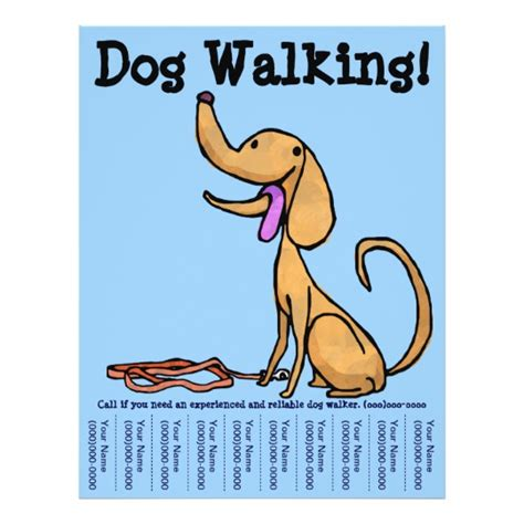 Dog Walking Flyer Zazzle Com Walking Flyer Template Free
