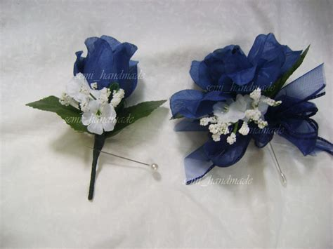 Boutonniere For Prom by Navy Blue Open Pin Corsage Boutonniere Wedding Prom