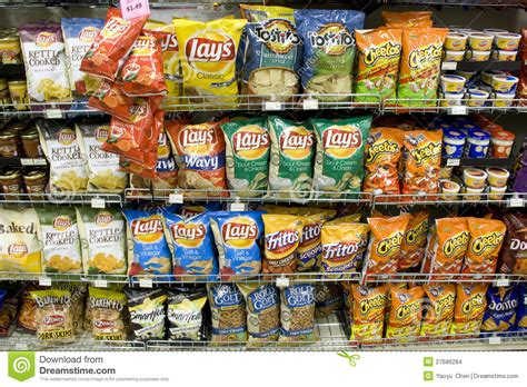 Popular Grocery Stores chips on store shelves editorial stock image image of