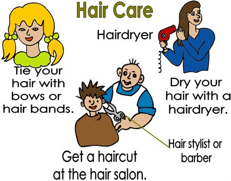 hair care vocabulary free language grammar lessons vocabulary