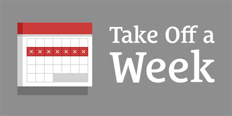 this week in the can 268 how to take off a week every seven weeks even if you