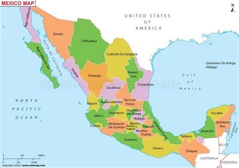 printable map mexico description the political map of mexico showing mexico