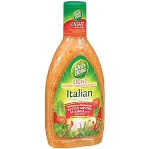 wish bone light italian salad dressing 16 oz plastic bottle