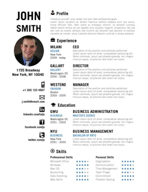 Creative Resume Templates Free For Microsoft Word by Trendy Top 10 Creative Resume Templates For Word Office