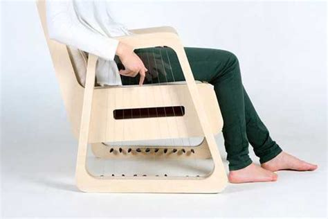 Unique Furniture Design Idea Blends Music into Wooden Chairs