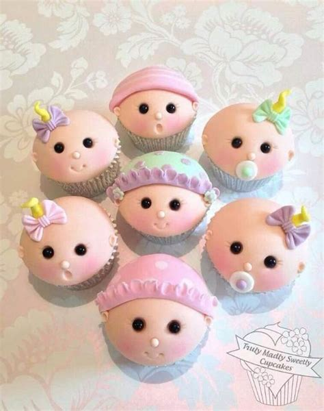 50 baby shower cupcake cakes in unique shape family