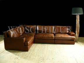 sofa leder vintage eck ledersofa vintage ledersofa leder sessel in braun