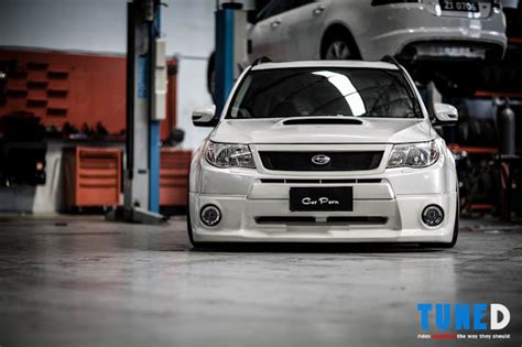 bagged subaru forester your aren t deceiving you the bagged subaru forester