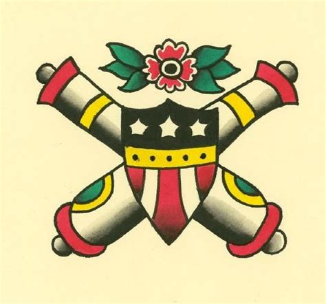 crossed cannons tattoo crossed cannons ideas cannon