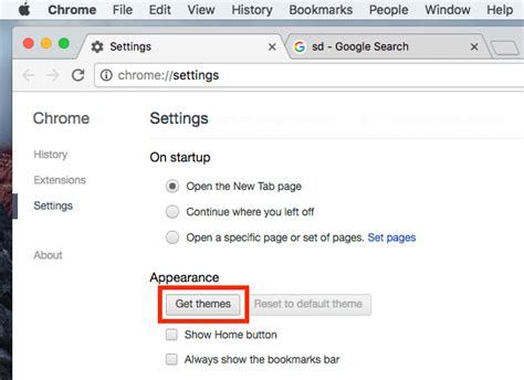 switch themes in chrome how to change the theme of google chrome browser on mac