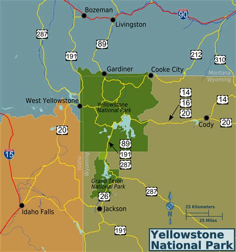 map usa yellowstone park yellowstone america us places you should see