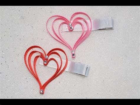 how to make a cross hair bow sculpture 3 layer heart ribbon sculpture valentine s day holiday