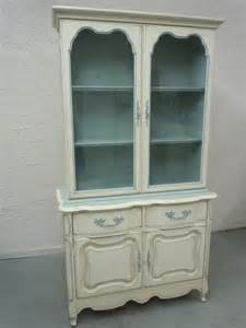 provincial china cabinet painted by