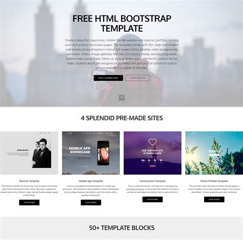 95 Free Bootstrap Themes Expected To Get In The Top In 2019 Template Free