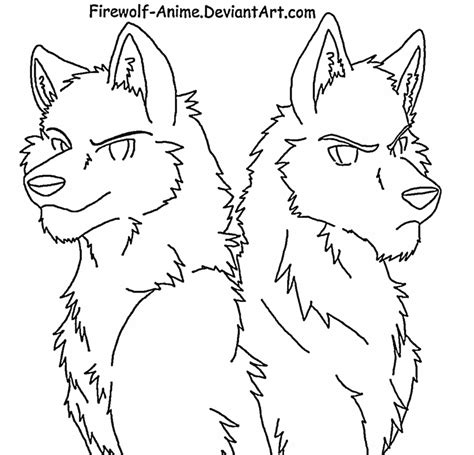 Anime Wolf Coloring Cake Ideas And Designs Anime Wolf Coloring Pages