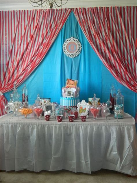 circus themed curtains carnival circus birthday party ideas birthdays candy