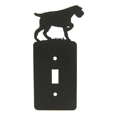 german wirehaired pointer single light switch plate cover