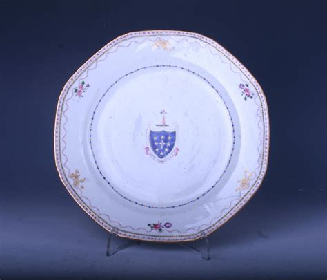 A Chinese armorial porcelain plate : MyFamilySilver.com