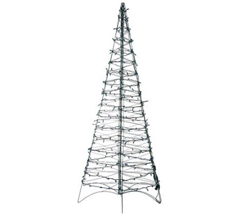 shp8 17 pre lit led 6 fold flat outdoor christmas tree by