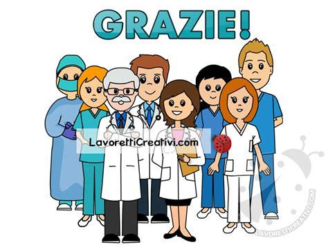 scritta grazie  medici  infermieri lavoretti creativi