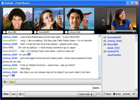 Chat Rooms Web Cams by Free Chat Paltalk 9 9 Screenshots