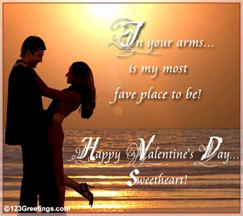 Your Arms Is My Fave Place  Free For Him eCards