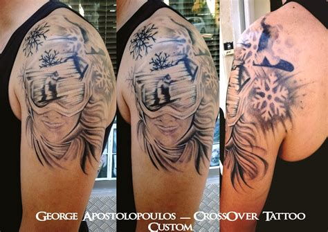snowboarding tattoos george apostolopoulos certified artist