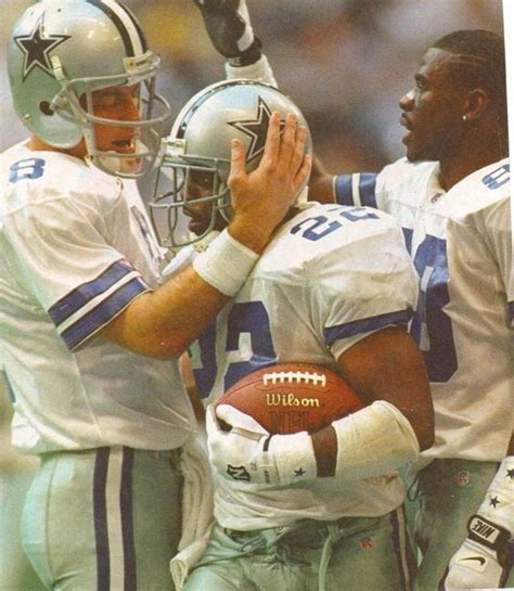 Real Emmitt by Dallas Cowboys Pictured Troy Aikmen Emmitt Smith