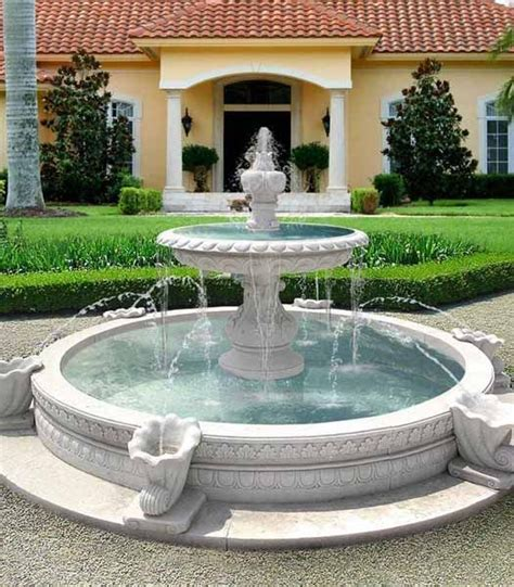 water fountains front yard  backyard designs water