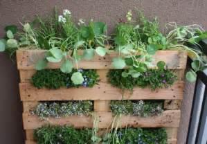 Wood Pallet Vertical Garden Diy Vertical Garden Using A Recycled Wooden Pallet