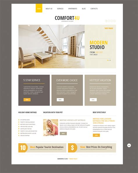 Prestigious Responsive Joomla Real Estate Templates Property Management Newsletter Templates