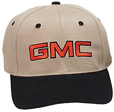 gmc hat general motors company embroidered logo cap