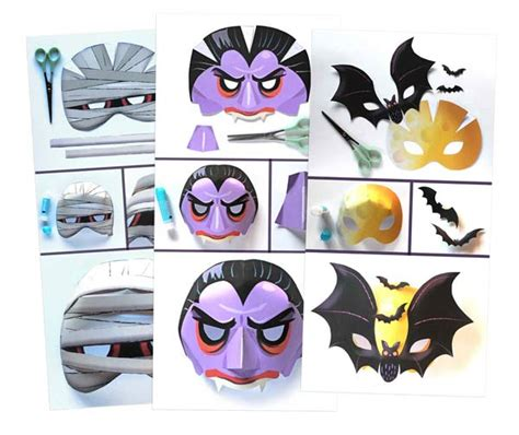 download printable halloween masks printable halloween masks download easy to make mask