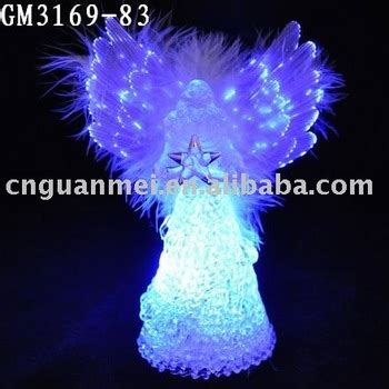 glass angels that light up led lighted small glass angels with optic fiber wing and