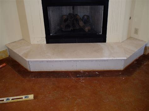 Fireplace Hearth Slab by Installing Marble Travertine Granite Limestone Slabs To