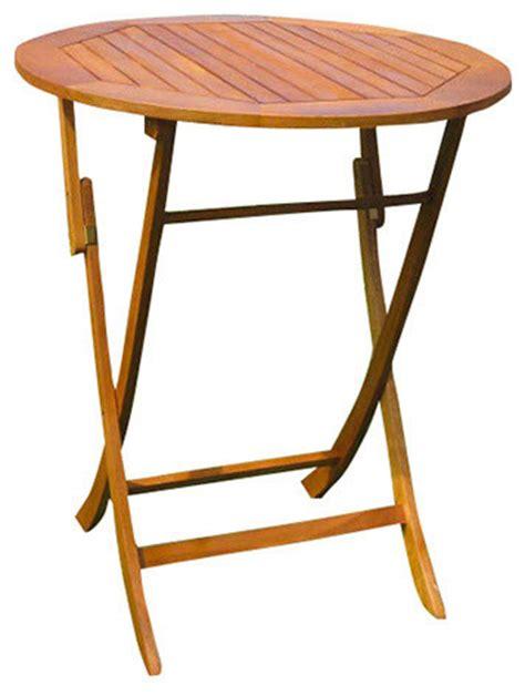 Bar Height Folding Table Royal Tahiti Outdoor 36 Quot Bar Height Folding Table Brown Stain Modern Outdoor Pub And