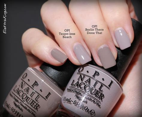 less color opi taupe less vs berlin there done that nails