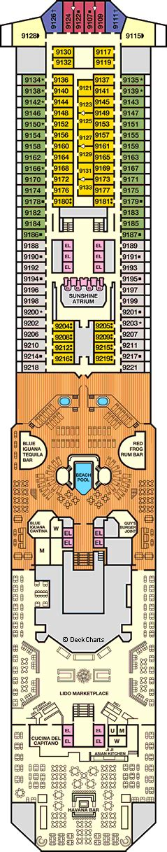 carnival sunshine floor plan carnival sunshine deck 9 cruise critic