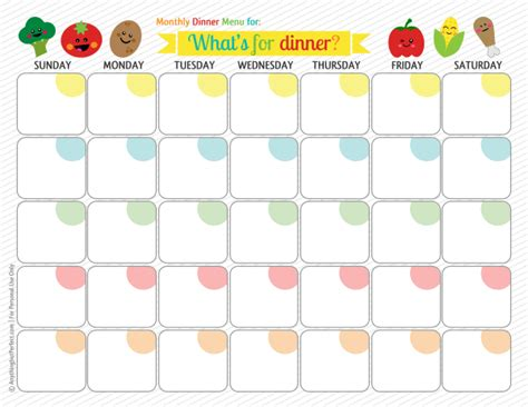 palmer ponderings monthly meal planning