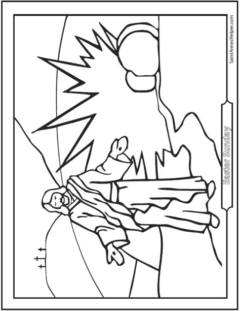 coloring page for resurrection resurrection coloring page jesus on easter sunday