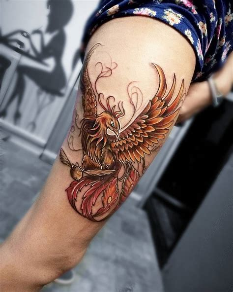 harry potter phoenix tattoo 60 magical harry potter tattoos for true