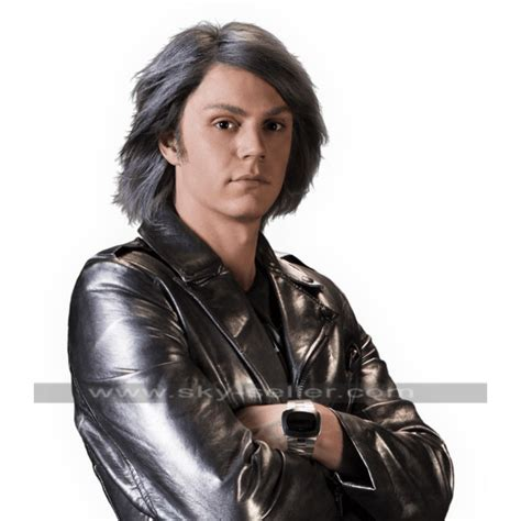 Quicsilver Silver quicksilver days of future past leather jacket