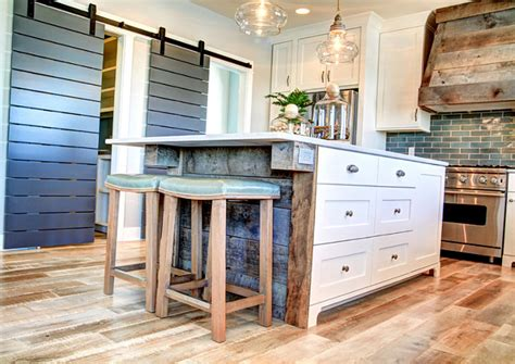 Recycled Kitchen Doors by Ranch Style Home With Transitional Coastal Interiors