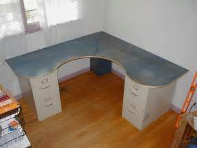 How To Make A Desk With File Cabinets Wraparound Desk Made From One Sheet Of Plywood 2 Filing