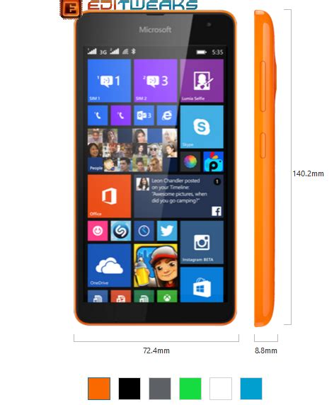 Microsoft Lumia 535 Second microsoft lumia 535 dual sim review specs and price editweaks your tech for reviews