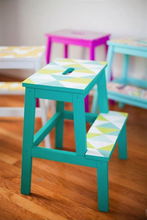 colorful diy ikea sigurd bench hack shelterness 582 best images about decorate furniture on pinterest
