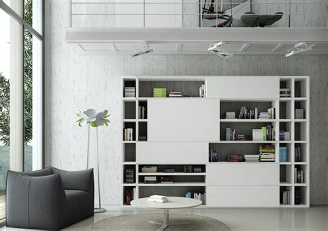 bücherregal weiß design medienwand roller